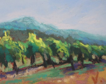 Summer Wine - ACEO - Pastel -2 1/2 x 3 1/2