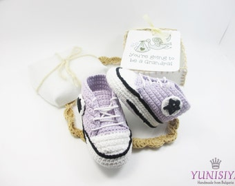 Grandparent Pregnancy Announcement, Newborn Baby Booties, Pregnancy Gift, Baby Reveal, Baby Shower, Choose Your Color