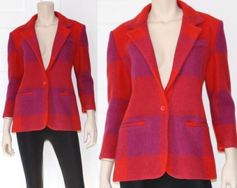 80s 90s wool color block Limited blazer - large or xl