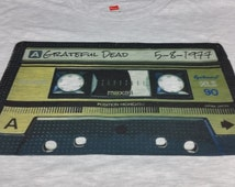 Grateful Dead Inspired Old School Tape Logo Designed Specific Show Lot Setlist Tee 5 8 1977 Customs
