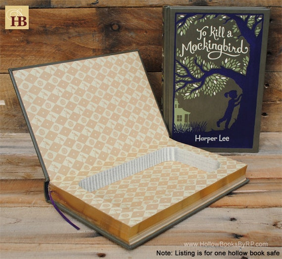 Hollow Book Safe - To Kill a Mockingbird - Leather Bound