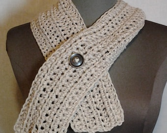 Tan Ribbed Cowl Neckwarmer