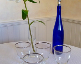 Gorgeous Set of Eight Dorothy Thorpe Style Silver Rim Glasses