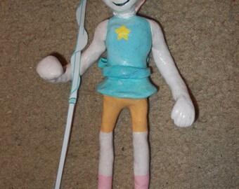 Pearl clay figure
