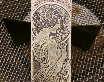 Sterling Silver Mucha Pendant