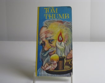 """Vintage Tom Thumb boardbook  """"Beautifully Illustrated by Alfredo Osorio, Modern Publications, printed in The Netherlands"""