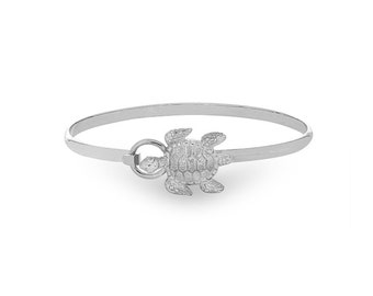 Sterling Silver Seaturtle Hook Bangle.