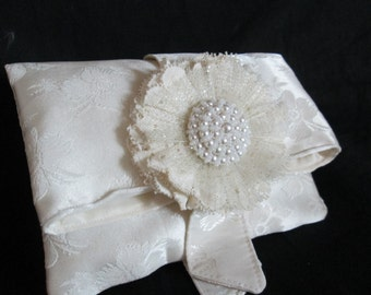 Repurposed Wedding Gown Bridal Clutch