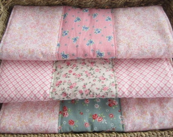 Set of Three Large Padded Burp Cloths Hand Made Burp Cloths Baby Gift