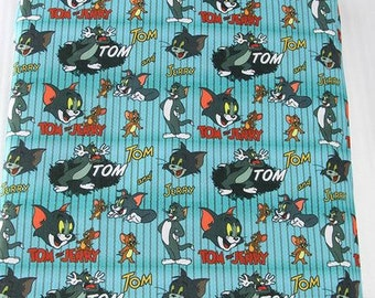 tom and jerry stripes fabric