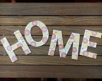 Letter Art Home Wall Art House Decoration Alphabet Home Letters Decor