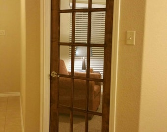 Walnut Stained French Door