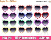 50% OFF SALE Heart Glasse...