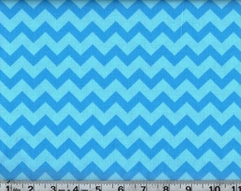 Tonal Chevron Turquoise  100% Cotton By the Yard #440-1