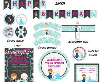 Frozen Birthday Printable Party Pack