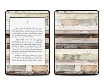 Amazon Kindle Skin - Eclectic Wood - Sticker Decal - Fits Paperwhite, Fire, Voyage, Touch, Oasis