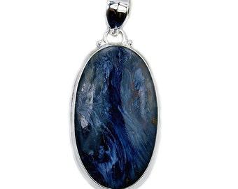 Blue Velvet'  Rare Pietersite & .925 Sterling Silver Pendant , AD655