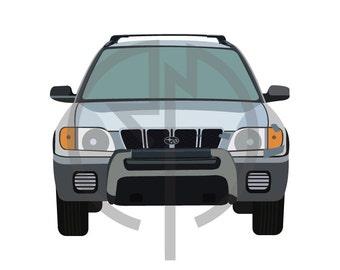 Subaru Forester Illustration