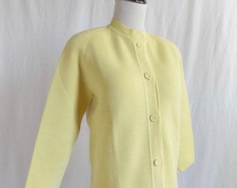 Vintage Marshall Fields Yellow Wool Cardigan
