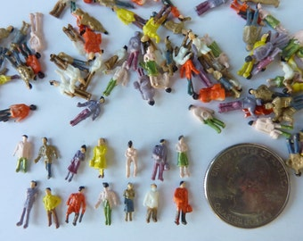 25 Micro Miniature Plastic People Doll House Diorama Terrarium Figure Figurine Model Train Craft Supply Lot (#635)