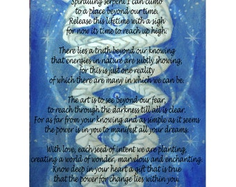 Beyond illusion, Visionary Art Poster and Poem