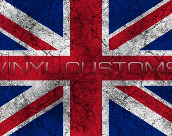 United Kingdom England UK Great Britain Flag Worn Distressed Vintage Vinyl Decal Sticker