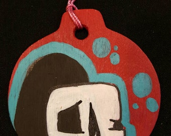 Hand painted lil Grim Christmas tree ornaments
