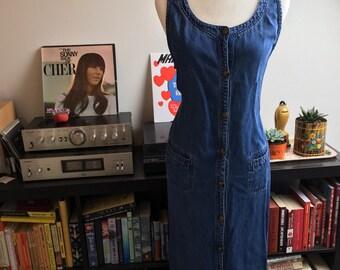 Vintage Button up denim dress