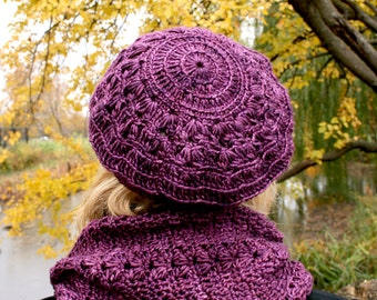 Pattern December cowl and beret crochet