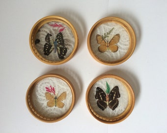Rattan Butterfly Coasters
