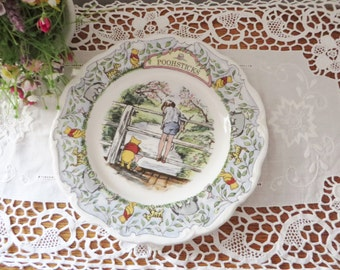 Winnie the Pooh vintage 1980's plate,Childs keepsake,AA Milne, Pooh sticks, Winnie the Pooh collection, Pooh bear plate, Christopher Robin