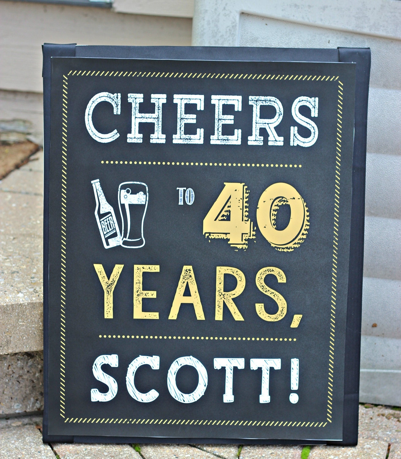 It is a photo of Smart 40th Birthday Signs Printable