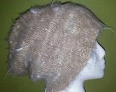 Organic Alpaca Hat, Slouchy Hat, Winter Cap, Undyed Alpaca Fiber, Knit Beanie, Men's Hat, Women's Hat, Knit Hat