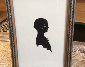 Vintage Girl Child Silhouette 1940's