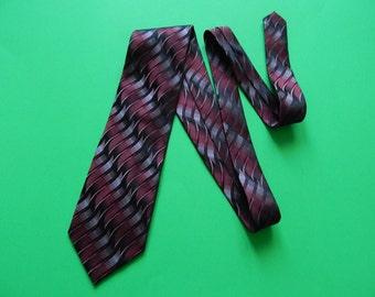 """58"""" Platinum Designs Silk Wide Maroon Black Gray Mens Necktie"""