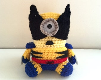 Amigurumi Wolverine Pattern : Captain America Minion PDF Pattern Crochet for Amigurumi Doll