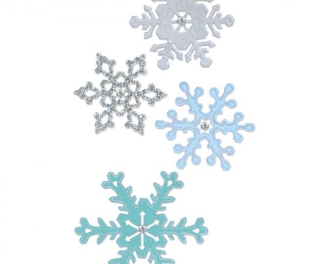 New! Sizzix Thinlits Die Set 4PK - Snowflakes #2 661541