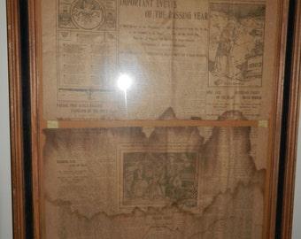 Vintage NEWSPAPER Passaic Daily Hearld 1902