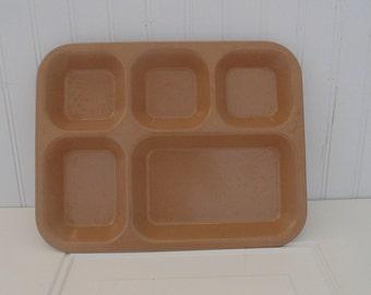 Vintage Melamine Brown Tray Cafeteria Tray Craft Storage
