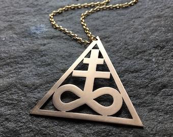 ARCANA Fire & Sulphur - Alchemy Necklace Occult Alchemist Pagan Satan Lucifer Leviathan Pendant