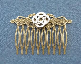Celtic Knot Hair Comb Bridal Hair Comb Endless Knot Hair Clip Vintage Hair Pin Classic Hair Clip Victorian Hair Slide Celtic Cross Hair Clip
