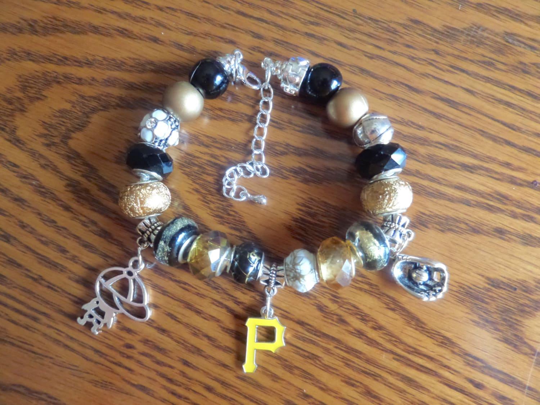 Pittsburgh Pirates European Charm Bracelet Mlb
