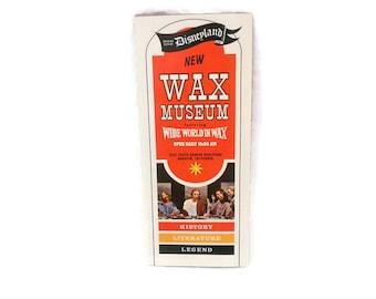 Wax Museum, Wax Museum Brochure, Anaheim California, Wide World in Wax, Ephemera