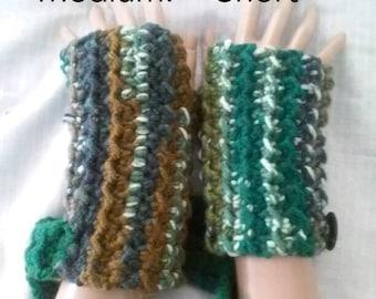 Fingerless Wrister Style Gloves-Mossy Rocks