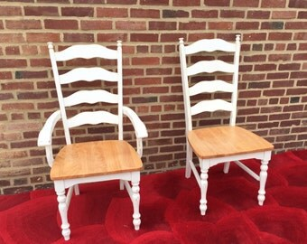 Dining Chairs, Wood Chairs, Farmhouse Chairs, Ladderback Chair, Distressed, French Country, Maine Ladderback, Custom Colors, Ladder Back