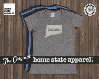 Connecticut Home. T-shirt- Womens Cut
