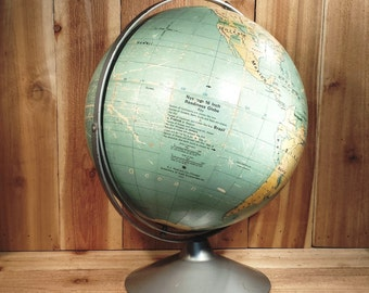 "Vintage 16""  Readiness Globe A.J. Nystrom Co."
