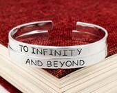 SALE -  To Infinity and Beyond Bracelet Set - Best Friends - Friendship Jewelry - Aluminum