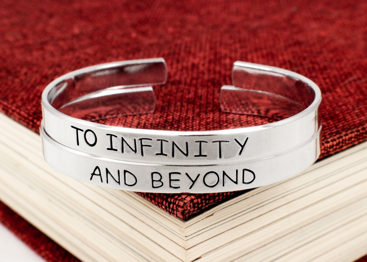 to infinity and beyond bracelet set