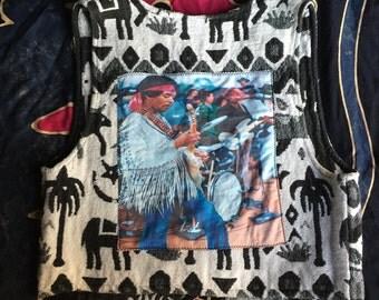 Tribal Vest Jimmy Hendrix Patch